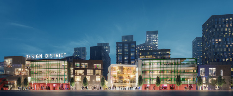8 Emerging Architects Create an Unexpected Playful Contrast for Greenwich's Design District, Courtesy of Knight Dragon