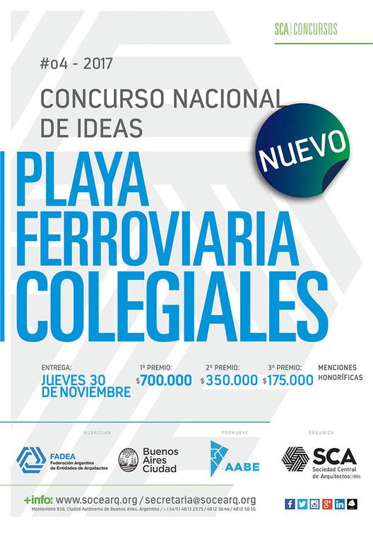 Concurso Nacional de Ideas Playa Ferroviaria Colegiales / Argentina, Cortesía de Sociedad Central de Arquitectos