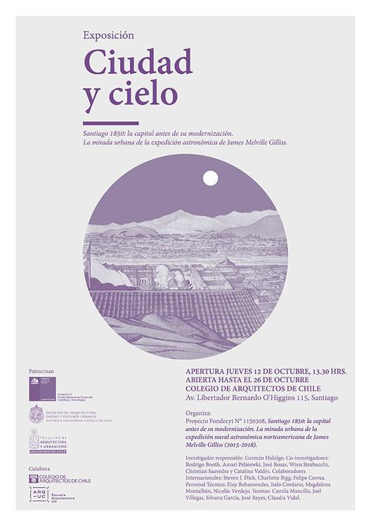 Exposición Ciudad y Cielo. Santiago 1850: la capital antes de su modernización