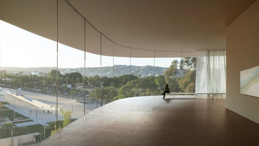 Internal rendering of the LACMA renovation. Image © Atelier Peter Zumthor