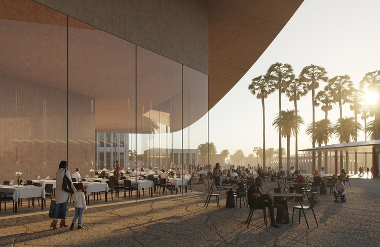 LACMA and Lincoln Center Reveal Divergent Plans, Exterior rendering of the LACMA renovation. Image © Atelier Peter Zumthor