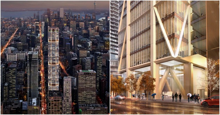 Foster + Partners Breaks Ground on Canada's Tallest Building in Toronto, Courtesy of Foster + Partners