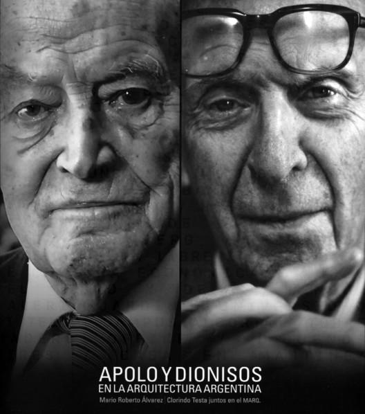 Apolo y Dionisos en la arquitectura argentina: Mario Roberto Álvarez y Clorindo Testa juntos en el MARQ, Retrato M R Álvarez, foto N. Grassi / Retrato C Testa, foto B. La Plante