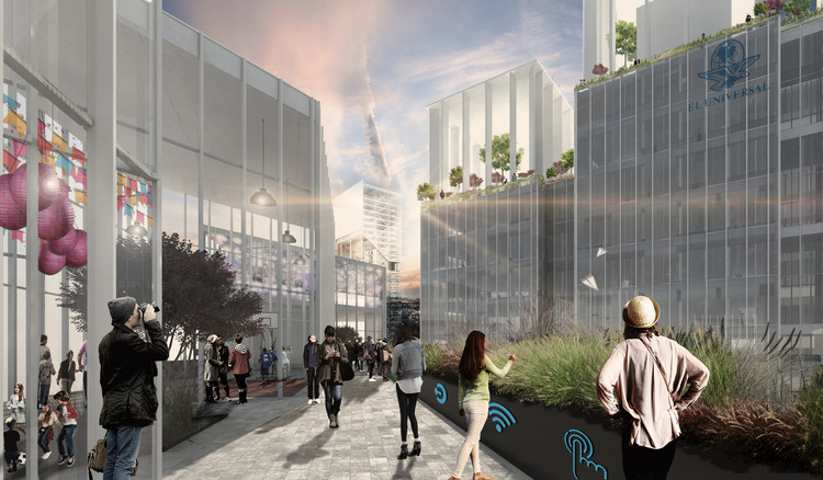 Conoce la propuesta ganadora del Concurso de Arquitectura Ciudad Informativa - El Universal 2017, Cortesía de FUNDAMENTALL