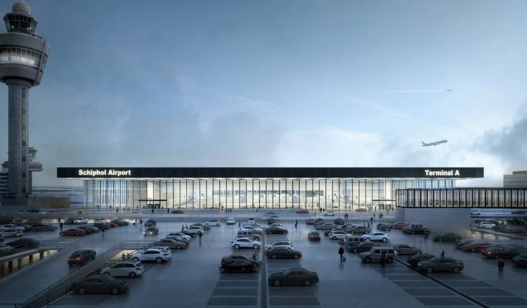 Estudio Lamela e KAAN Architecten projetam ampliação do aeroporto Schiphol em Amsterdã, © Filippo Bolognese