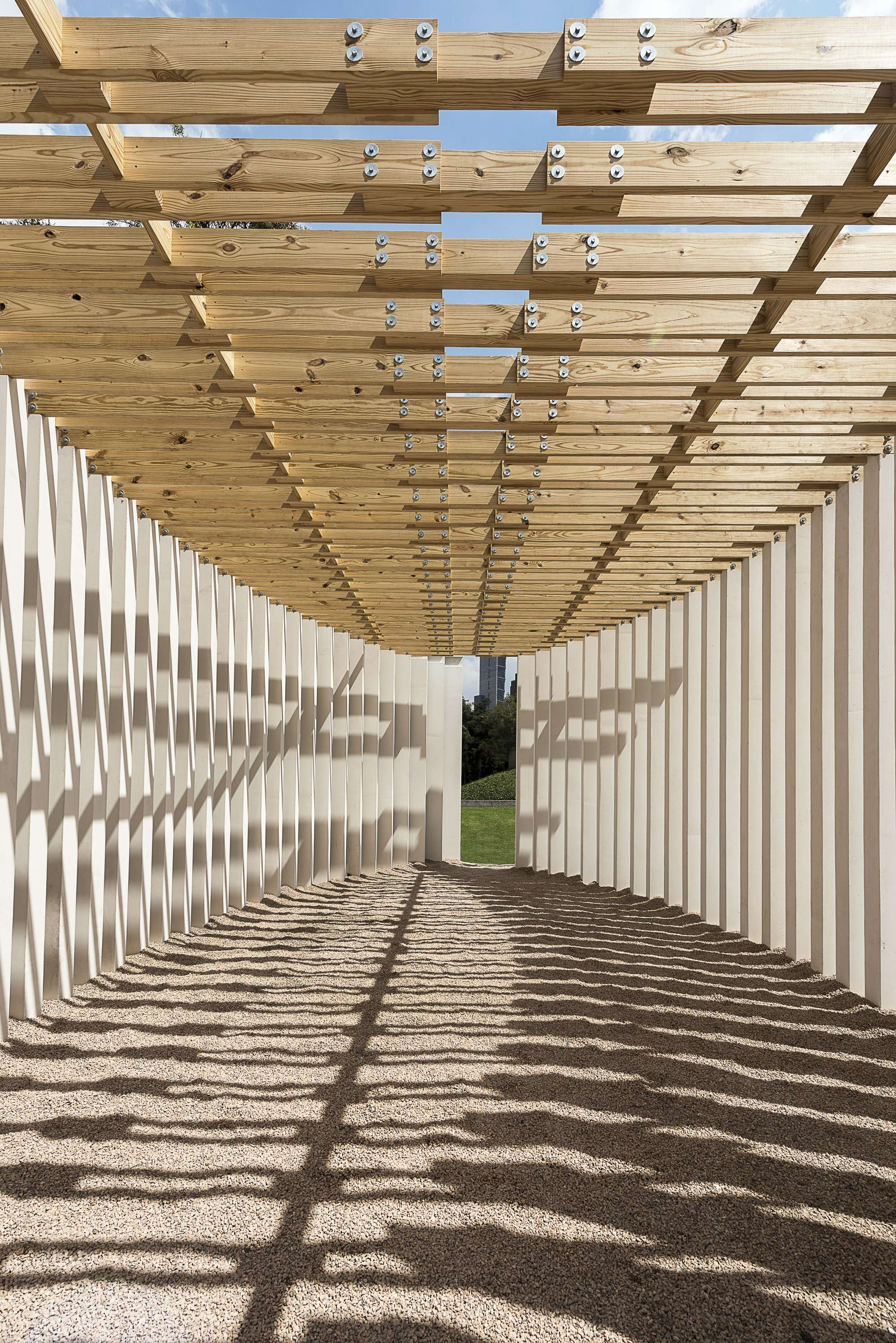 Materia Completes Concrete And Wood Pavilion For Design