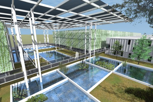 Water Prize winner - Floating Ponds / Surbana Jurong Consultants. Image Courtesy of World Architecture Festival