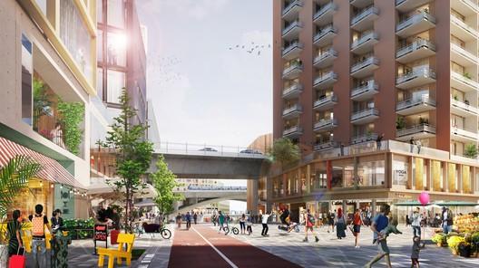 Ageing and Health Prize winner - Södra Skanstull / White Arkitekter . Image Courtesy of World Architecture Festival