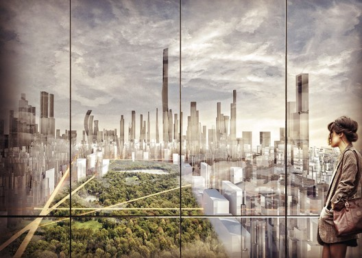 Smart City Prize winner - The Green Manhattan by SHAU. Image Courtesy of World Architecture Festival