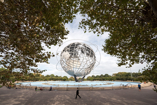 """Circle Fence"" by Ai Weiwei, at Unisphere, Flushing Meadows Corona Park, Queens. Image © Timothy Schenck"