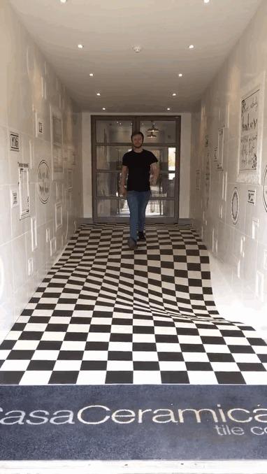 galeria de empresa brit nica casa ceramica usa ilus o de tica na entrada de sua sede 5. Black Bedroom Furniture Sets. Home Design Ideas