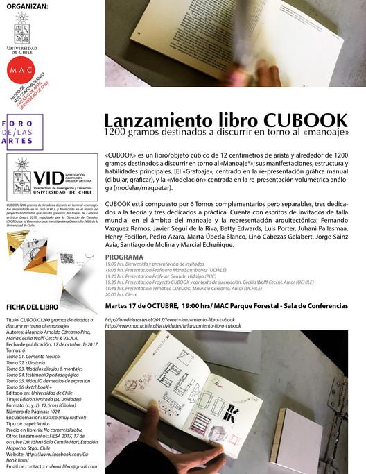 Lanzamiento libro/objeto CUBOOK, Mauricio Arnoldo Cárcamo Pino