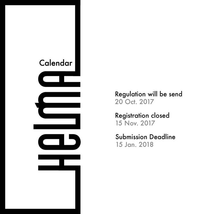 HELMA 2017 – 2018 Architecture in Sport Facilities Design Award, HELMA 2017 - 2018 Update Calendar 11 Octber 17