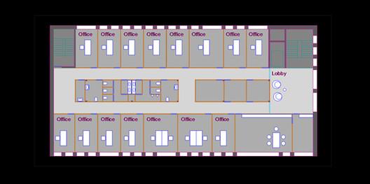 The raw AutoCAD floorplan. Image Courtesy of RenderPlan