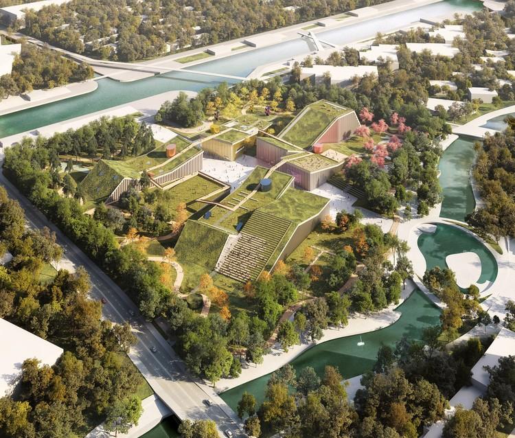 MVRDV projeta parque urbano e centro comunitário nos arredores de Xangai, Cortesia de MVRDV