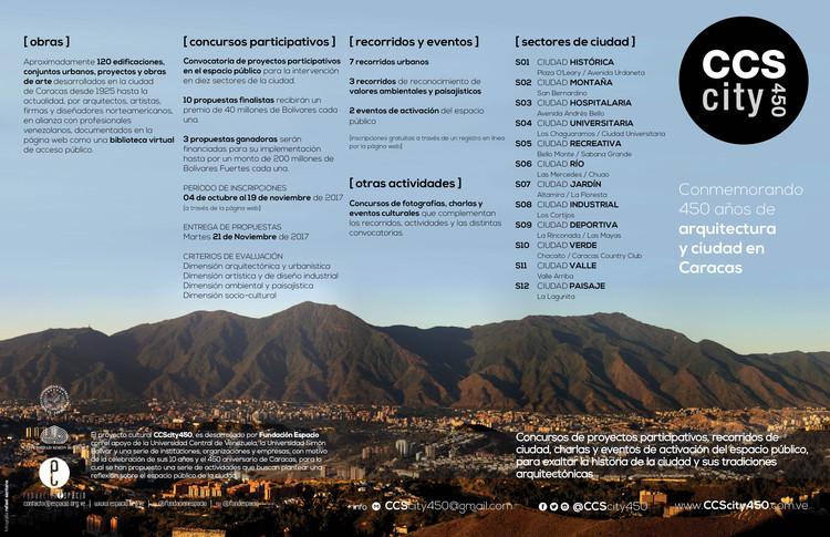 CCScity450: intervenciones urbanas para conmemorar 450 años de arquitectura y ciudad en Caracas, Venezuela., CCScity450