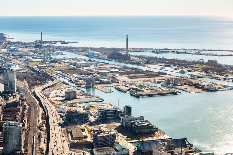 Sidewalk Labs Announces Plans to Create Model Smart City on Toronto's Waterfront, Eastern Waterfront as it looks today. Image Courtesy of Sidewalk Labs