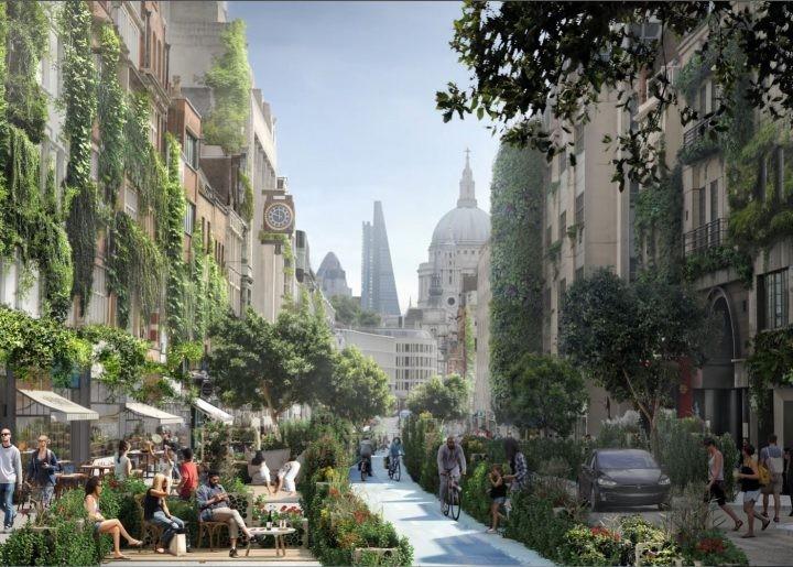 "Londres será inundada de espaços verdes com a proposta ""Green Block"" de WATG"