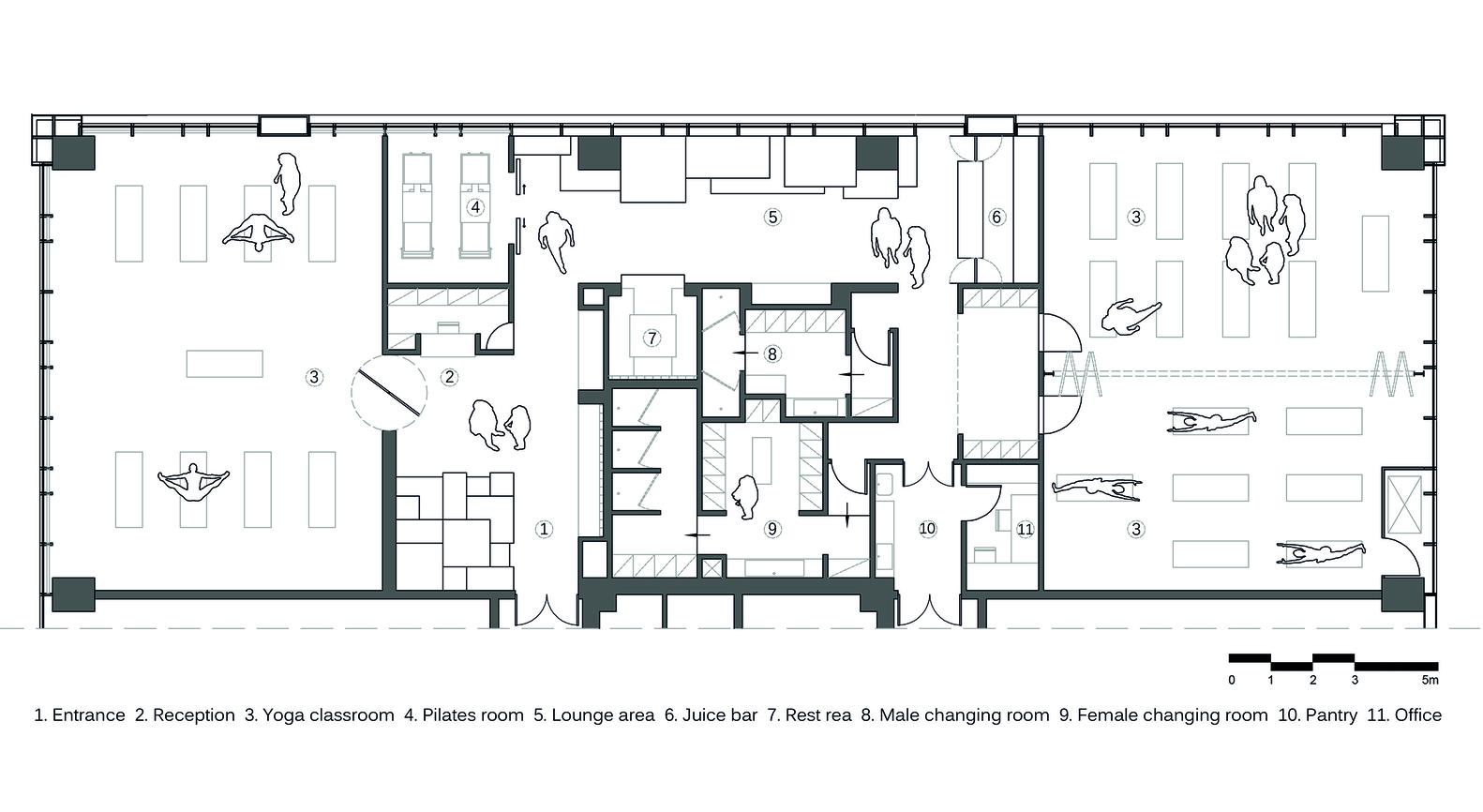 Yoga Studio Floor Plan