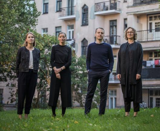 Latvian Curatorial Team (2018 Venice Architecture Biennale). Image © Lauris Aizupietis