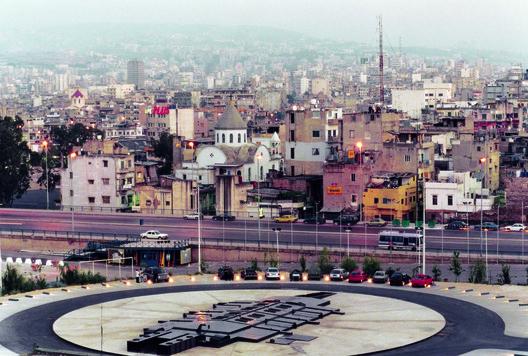 View of Beirut overlooking Bernard Khoury Architects' B 018 . Image © Bernard Khoury Architects