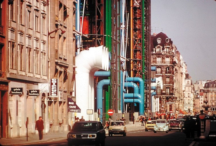 """Richard Rogers: Architecture Is """"A Place For All People"""", Centre Pompidou (1970s). Image via Rogers Stirk Harbour + Partners"""