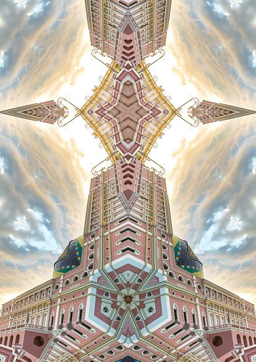 A simetria brinca com o olhar, Imagem da série Arquitetura Imaginária.