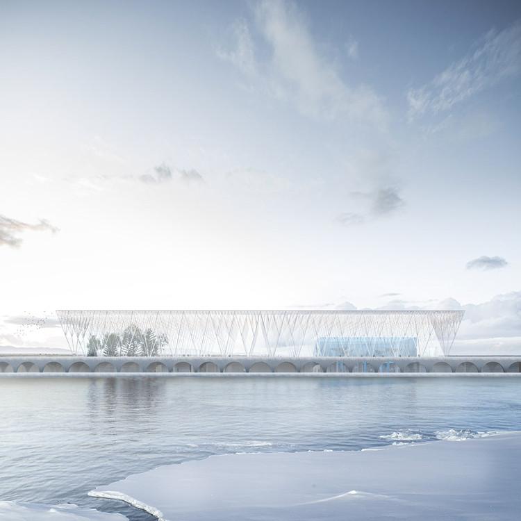 'La catedral de hielo', una propuesta para el Centro Antártico Internacional en Chile, Cortesía de Araneda, Echeverría, Ferrando, Recio, Wood