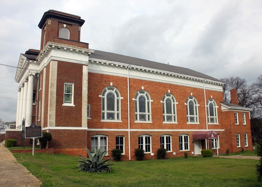 United States, Alabama Civil Rights Sites. Old Ship A.M.E. Zion Church in Montgomery, a historic meeting place for black leaders, 2017. Laura Ewen Blokker, Southeast Preservation/World Monuments Fund