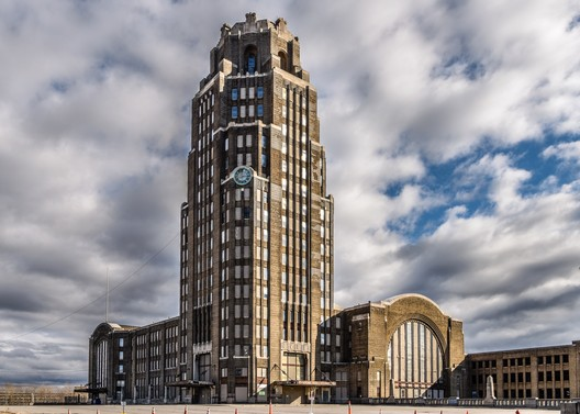 United States, Buffalo Central Terminal. The Buffalo Central Terminal complex includes an iconic Art Deco office tower, 2017. Joe Casico/World Monuments Fund