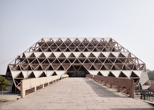 India, Post-Independence Architecture of Delhi. The Hall of Nations, a complex of exhibition halls built for the 1972 International Trade Fair, was demolished in April 2017. Ariel Huber, Lausanne/World Monuments Fund