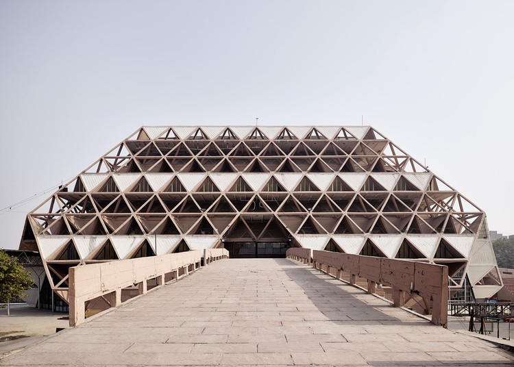 World Monuments Watch lista 25 bens culturais ameaçados em 2018, Índia, Post-Independence Architecture of Delhi. The Hall of Nations, a complex of exhibition halls built for the 1972 International Trade Fair, was demolished in April 2017. Ariel Huber, Lausanne/World Monuments Fund