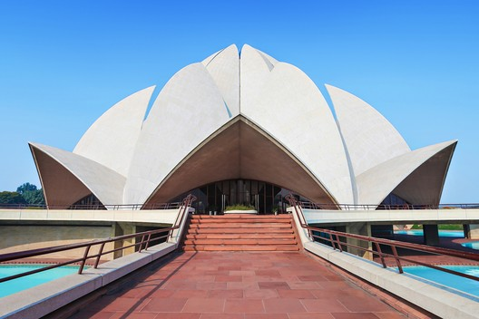 India, Post-Independence Architecture of Delhi. The Bahá'í House of Worship, known as the Lotus Temple (1986), is included on the World Heritage List, 2017. Shutterstock/ World Monuments Fund
