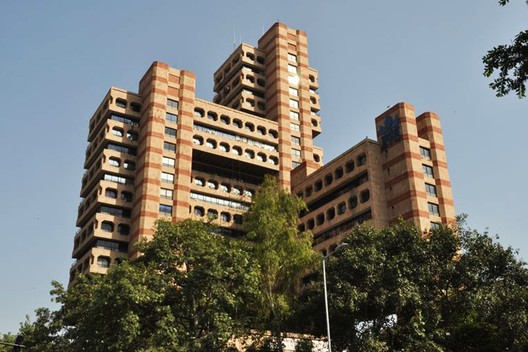 India, Post-Independence Architecture of Delhi. The State Trading Corporation Building (1989) was designed by Raj Rewal, architect of the now-demolished Delhi Hall of Nations, 2017. INTACH Delhi/World Monuments Fund