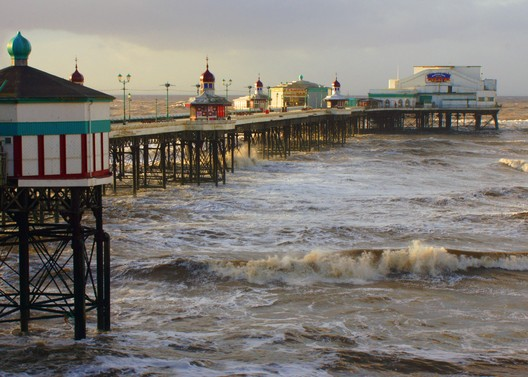 United Kingdom, Blackpool Piers. The North Pier was the first pier at Blackpool, constructed using innovative screw pile engineering. Gidzy/ Flickr/ World Monuments Fund