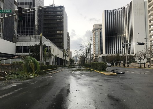 Disaster Sites of the Caribbean, the Gulf, and Mexico. Damage caused by Hurricane Maria to Luis Muñoz Rivera Avenue, San Juan, Puerto Rico, 2017. Jorge Iván Reyes/World Monuments Fund