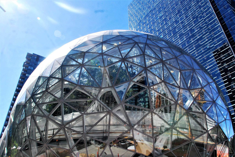 The Top 10 Predicted Cities for Amazon's HQ2 (And Why HQ2 Will Be a Major Urban Catalyst for the Winner), Amazon's current campus in Seattle. Image© <a href='https://www.flickr.com/photos/joebehr/37039556922/'>Flickr user joebehr</a> licensed under <a href='https://creativecommons.org/licenses/by-nd/2.0/'>CC BY-ND 2.0</a>