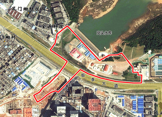 Node 1: Gangtou Technology Park Entrance Node Range Map