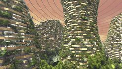 Shanghai 2117 Imagines Vertical Forest Architecture for Future Mars Colonization