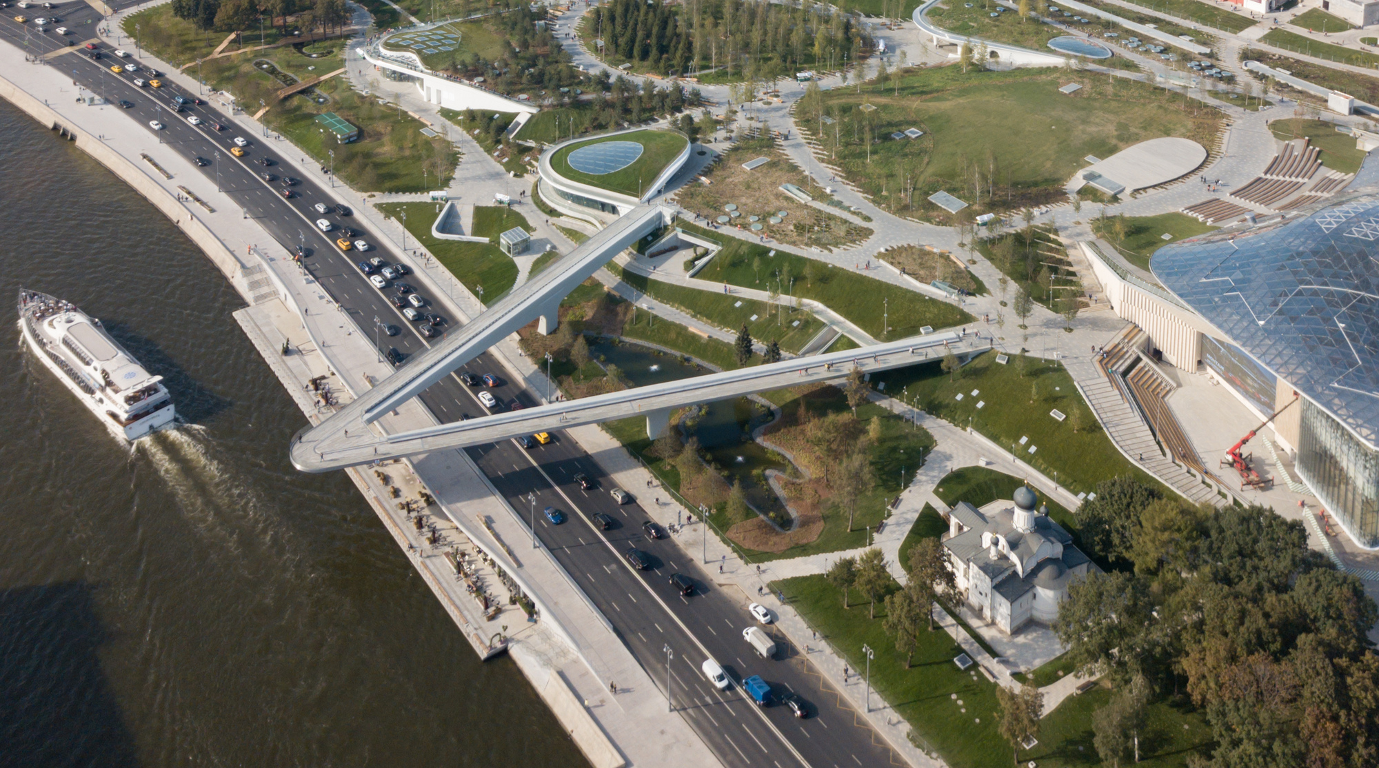 World Famous Architects Moscow S Zaryadye Park Sees More Than One Million Visitors