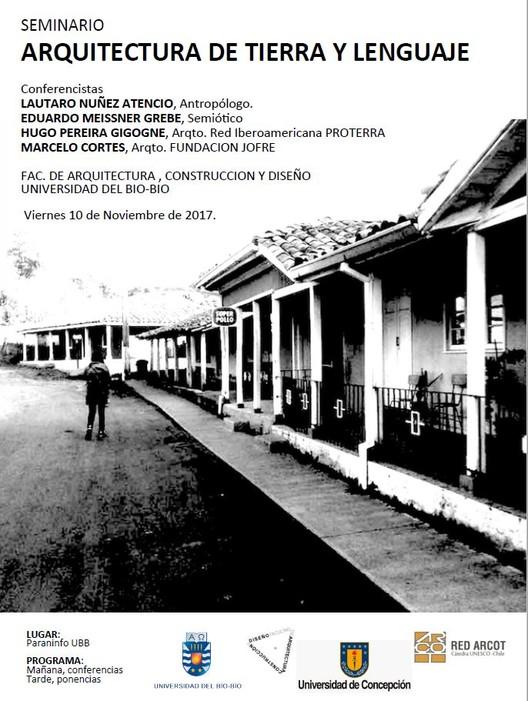Seminario 'Arquitectura de tierra y lenguaje', Universidad del Bio bio