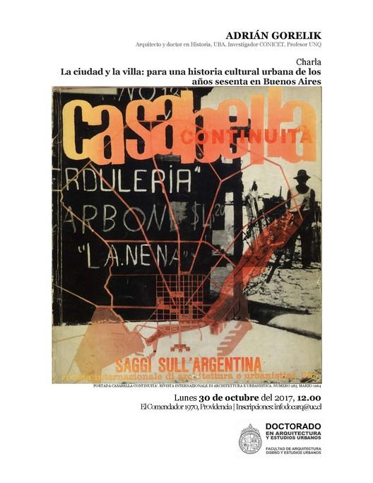 Adrián Gorelik : La ciudad y la villa, Afiche/PORTADA CASABELLA CONTINUITA'. RIVISTA INTERNAZIONALE DI ARCHITETTURA E URBANISTICA. NUMERO 285. MARZO 1964
