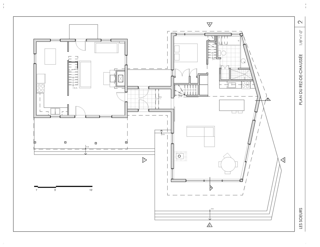 The Sisters House,Ground Floor Plan