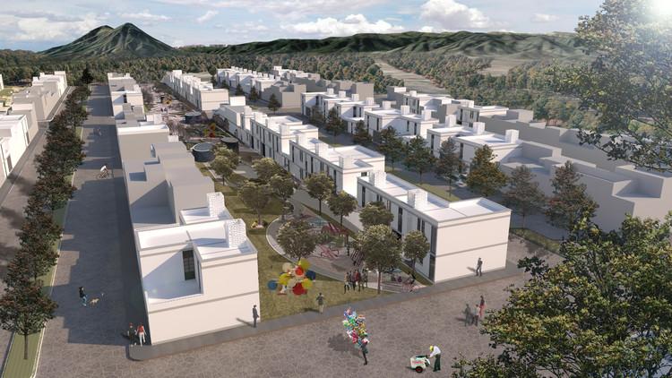 San Luis Potosí: Prototipo de vivienda de autoproducción asistida para INFONAVIT , Cortesía de Alejandro Polo