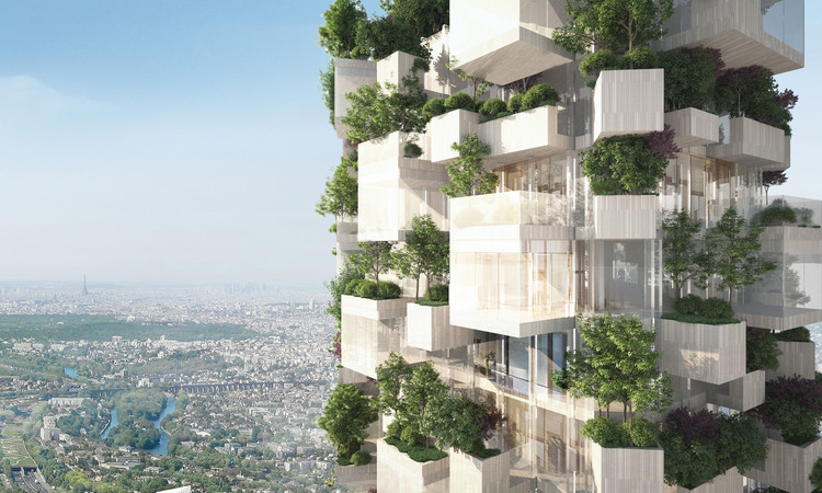 Stefano Boeri Architetti Unveils Vertical Forest Tower for Megaproject in Paris, Courtesy of Stefano Boeri Architetti
