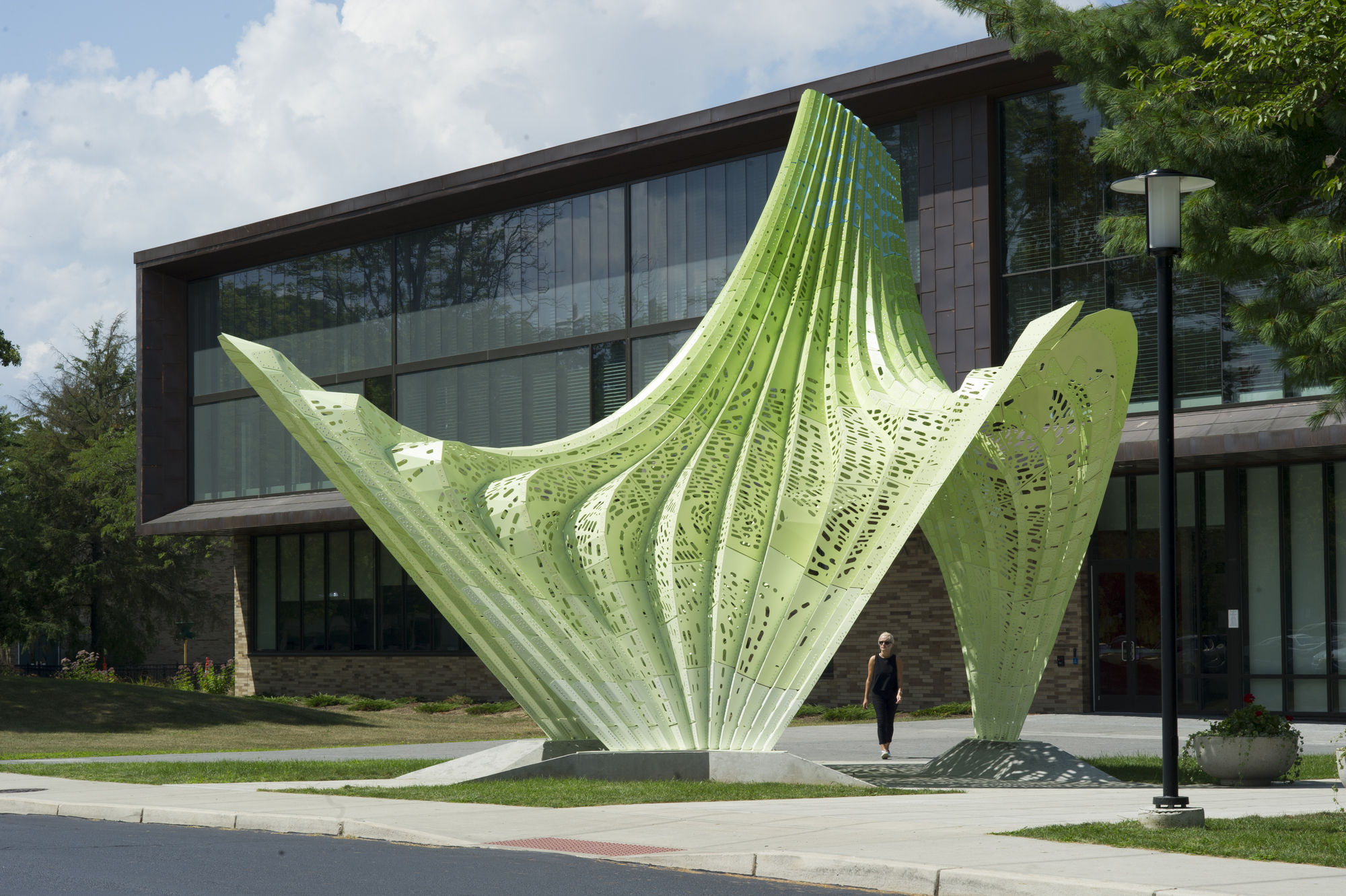 Hyparbole marc fornes theverymany archdaily for Entrance to rivet city