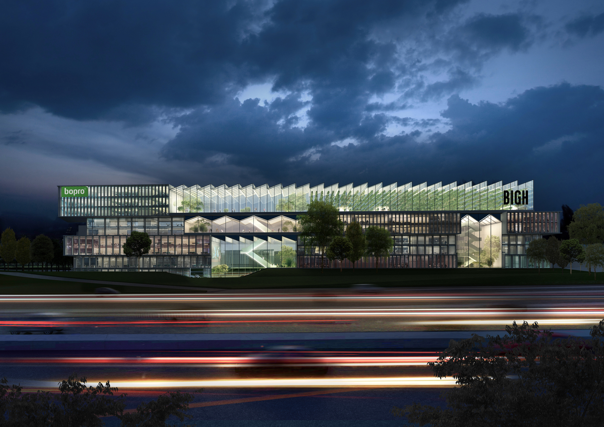competition winning paris office park design to reintroduce play into the workplace courtesy of