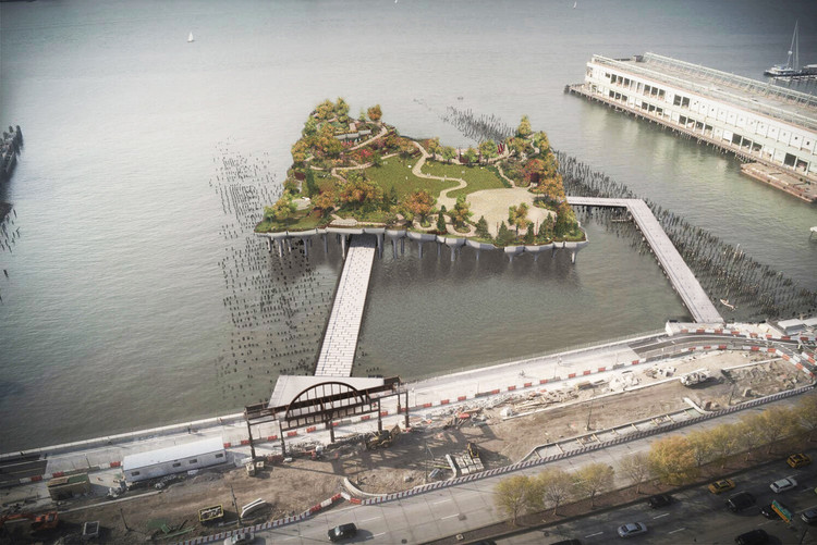Heatherwick's Pier 55 Project Given New Life by New York State Governor, © Heatherwick Studio