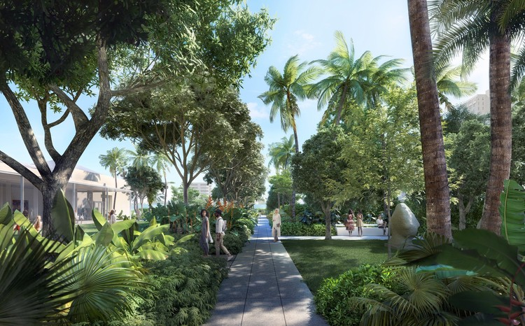 Foster + Partners' First Public Garden Design to Feature in Norton Museum Expansion, © Foster + Partners