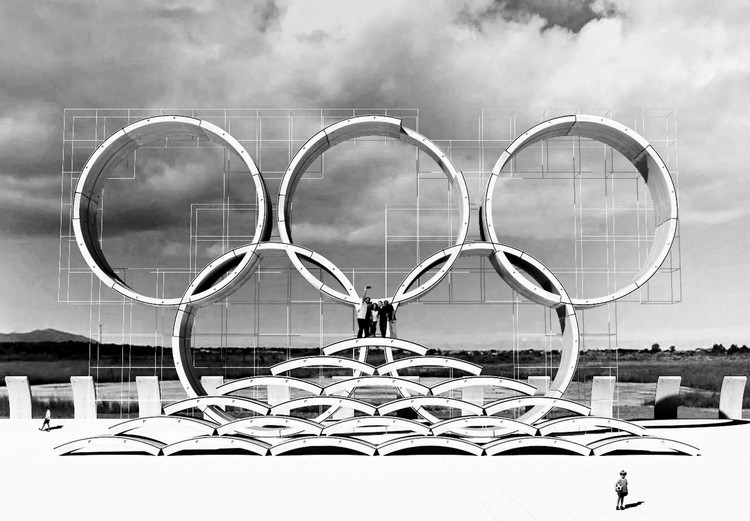 Concurso propõe a reutilização de peças de concreto remanescentes das obras de expansão do Metrô do Rio de Janeiro, Arcos. Image Cortesia de Erick M. Bromerschenckel e Loan Tammela
